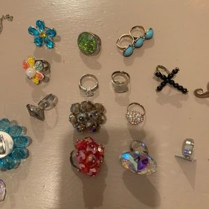 Ring and necklace lot